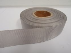 Light Silver / Grey Grosgrain ribbon, 2 or 20 metres, Ribbed Double sided, 6mm 10mm 16mm 22mm 38mm